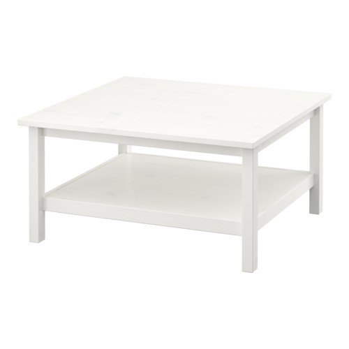 Ikea HEMNES - Mesa de Centro, Mancha Blanca Blanco - 90x90 cm