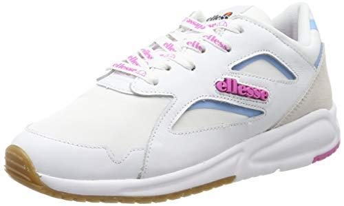 Ellesse Contest, Chaussures de Fitness Femme, Multicolore (White/Super Pink 000), 39.5 EU
