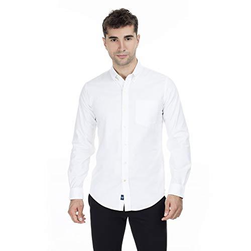 Dockers Stretch Oxford Shirt Camisa, Blanco (Paper White 0000), Small para Hombre
