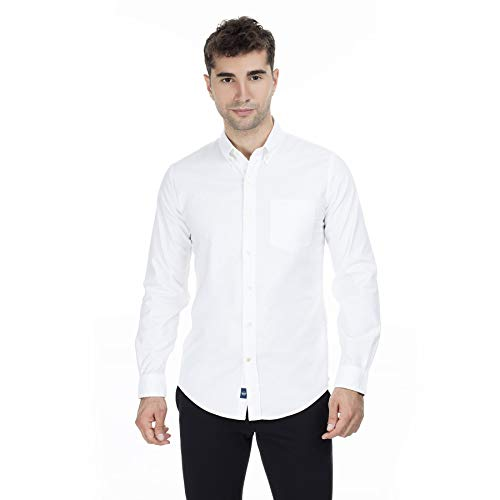 Dockers Stretch Oxford Shirt Camisa, Blanco (Paper White 0000), X-Large para Hombre
