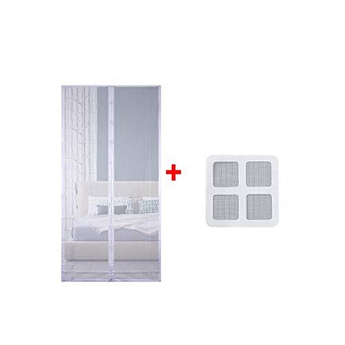 Eileen Ford Vensterscherm Mug | Anti-muggennetdeur Magnetische gaasdeur Klamboe Gordijn Insectennet Automatische sluitdeur Keukendeur Gordijnen-Wit 100x210cm-