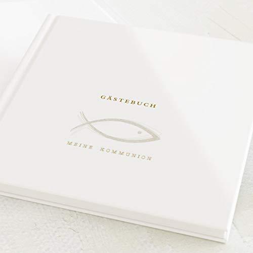 sendmoments Gästebücher Kommunion, Zusammen, hochwertige Blanko-Innenseiten, 32 Seiten oder mehr,...