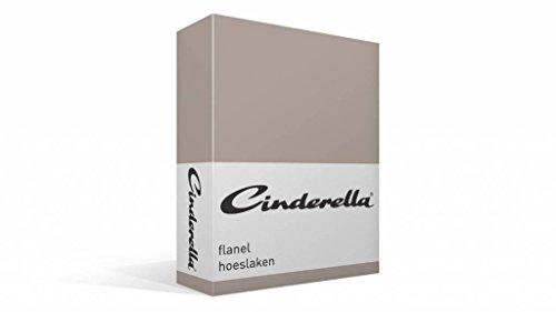 Cinderella Flanel Drap-Housse - Taupe - 180x200
