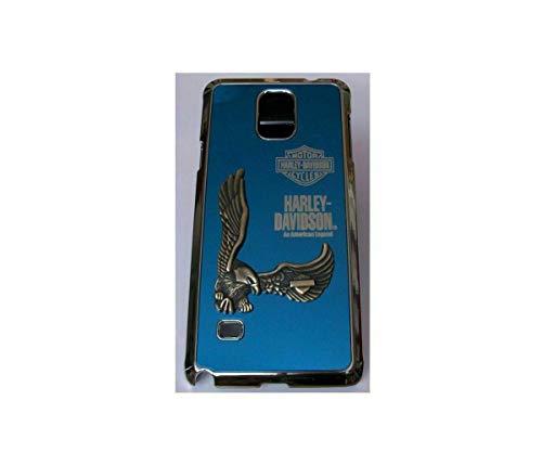 Adago - Cover posteriore per Samsung Note4 Harley-Davidson Motor American Legend 3D Eagle (blu)