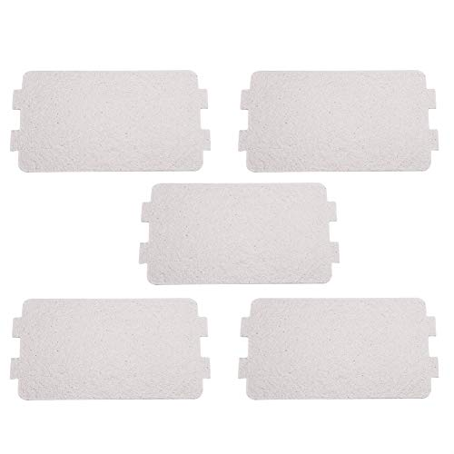 FTVOGUE 5 STÜCKE Mikrowellenofen Glimmerplatte Glimmerscheibe Blatt Ersatz Reparaturzubehör, 116 x 64 mm