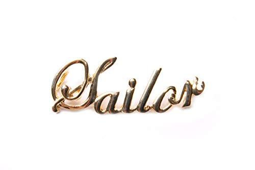 """Goldfarbener Anhänger\""""Seemann\"""" Elegantes Schreiben See/Cruises Lover Everyday Halskette Zubehör (T604)"""