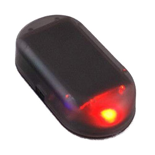 Alarmanlage Auto, Dummy Imitation Diebstahlsicherung Attrappe, Solar Power Simulierte Auto Warnung LED Licht Anti-Diebstahl Warnleuchten Flashing Sicherheit Lampe - rot