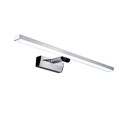 Qucover 18W LED Spiegelleuchte, 180°Einstellbare Spiegellampe, Wandleuchte für Badezimmer, Badlampe für Spiegel 60 cm, Bilderleuchte Schrankleuchte Schminklicht, IP 44 Kaltweiß