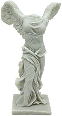 Top Collection 11-Inch Winged Victory of Samothrace Statue. Goddess Nike Sculpture from the Louvre. Premium Cold Cast Marble. Museum-Grade Masterpiece Replica.