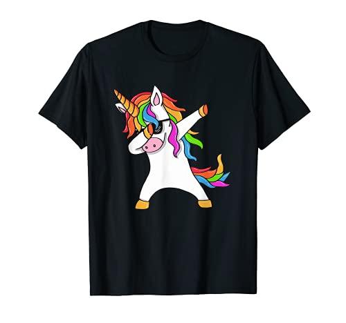 Dab Einhorn T-Shirt Dabbing Unicorn Sonnenbrille Regenbogen