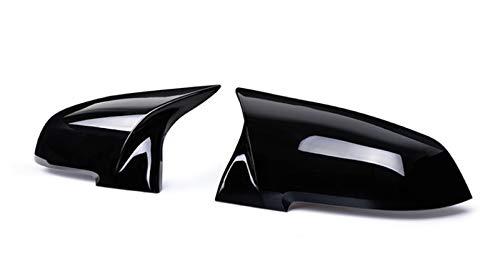 Pingping ZZPING 2 Piezas retrovisor Espejo Cubierta Tapa Fuego Negro Ajuste para la Serie BMW 1 2 3 4 x M 220i 328i 420i F20 F21 F22 F23 F30 F32 F33 F36 x1 (Color : Bright Black)