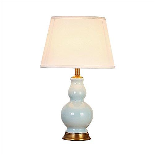 ZWL Lampe de table à gaze Lampe de bureau en céramique, Cuivre Salle de séjour Chambre à coucher Lampe de chevet Simple E27 Lampe décorative 36 * 60CM fashion.z (taille : 36 * 60CM)