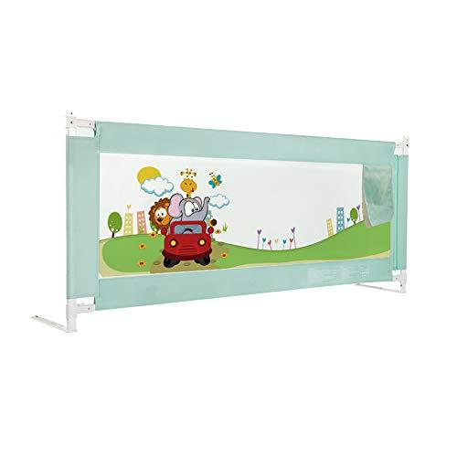 Barrières de lit LHA Garde-Corps Se Pliant portatif de lit de rambarde de crèche approprié aux Enfants 150,180,200 * 82 cm (Couleur : Green, Taille : L-200cm)
