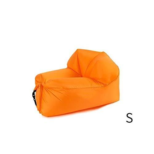 HJDZS-FX Aufblasbar Schnell aufpumpen Sofa reissfest aufblasbares Bett Folding aufblasbaren Stuhl Faule aufblasbares Bett Comfort Schlafsofa (Color : Orange 105 70 62cm)