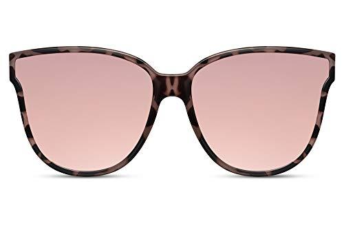 Cheapass Gafas de Sol Oversize Mariposa Ojo de gato Fashion Tortoise Gafas de Sol con Rosa Inside y Rosa Espejo Cristales UV400 protegidas Mujeres