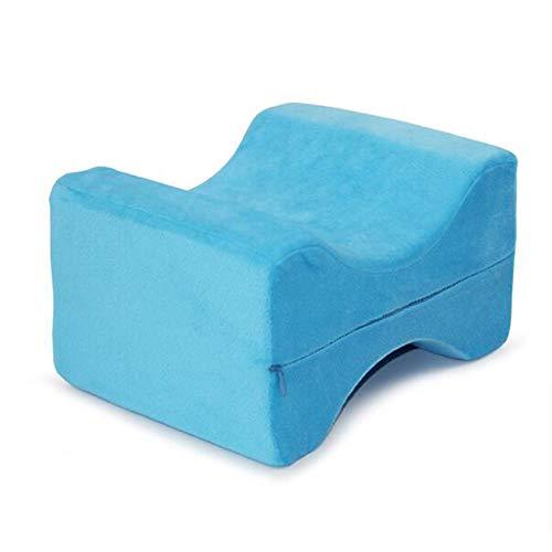 Orthopedic Knee Pillow, Memory Cotton, Best for Legs, Sleep, Pregnant Women, Relieve Knee Pain, Correct Leg Type,Blue