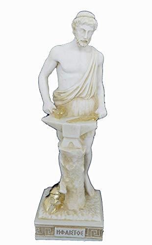 Estia Creations Hephaestus-Skulptur, alte Statue, griechischer Schmied Gott Hephaistus
