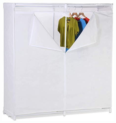 Wardrobe & Armoire, 60-inch White Portable Closet Clothes Organizer Wardrobe