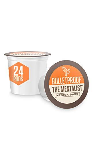 Bulletproof The Mentalist Coffee Pods, Medium Dark Roast, 24 Count, Compatible with Keurig and Keurig 2.0, Medium Dark Roast