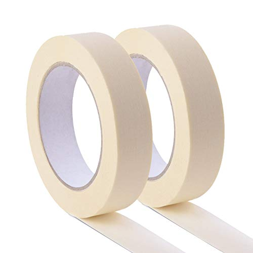 White Masking Tape 4 Pack, General Purpose Beige Painter's Tape 0.7inch x 60yard, 240 Yard In Total, For Painting, Labeling, Packing, Craft, Art, etc. Photo #3