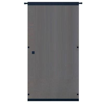 Snavely Forest 38 in. x 80 in. Black Easy to Install Instant Screen Door with Hardware Included HMD