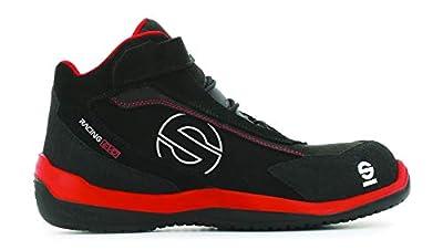 Sparco S0751545RSNR zapatillas racing Evo red/black, Rojo/Negro, 45 EU