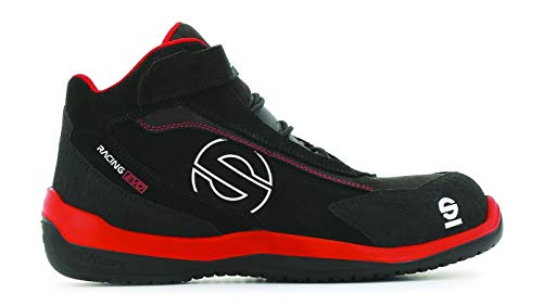 Sparco S0751545RSNR zapatillas racing Evo red/black, Rojo/Negro, 45 EU