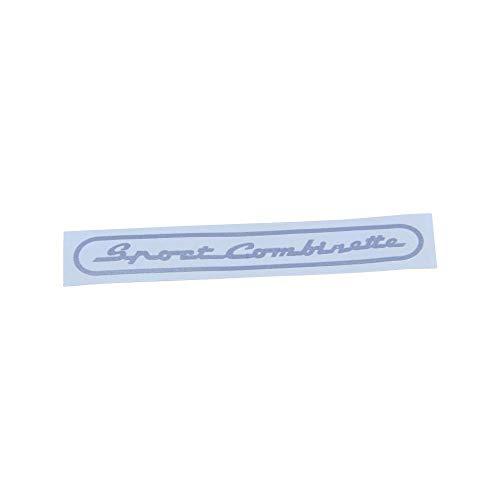 Zündapp Aufkleber Silber für Sport Combinette Seitdendeckel Dekor 1,5 x 13 cm Sticker