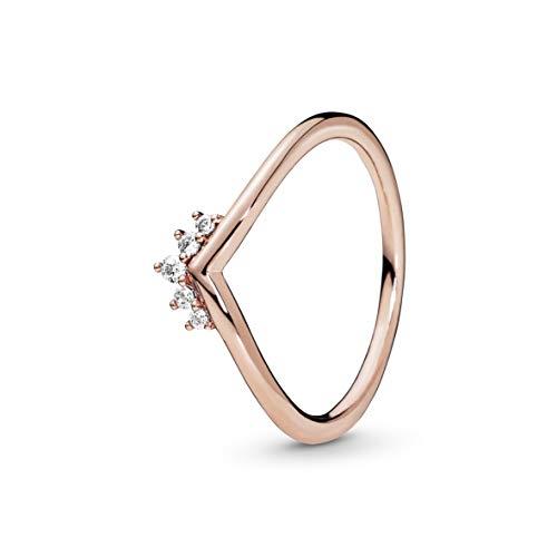 Pandora Damen-Stapelring Silber_vergoldet mit '- Ringgröße 60 188282CZ-60