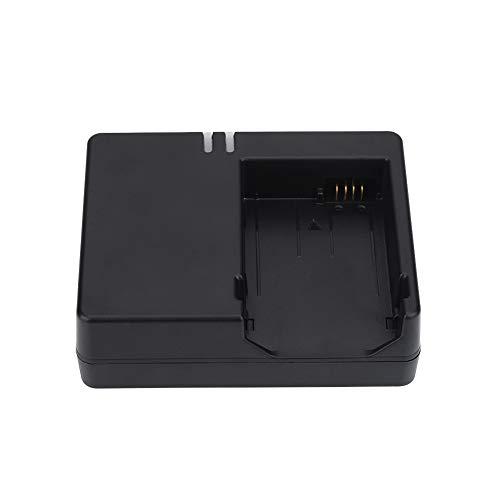Uxsiya Cargador de batería para cámara, Cargador de batería Negro para EOS Carga IC Inteligente DC 8.4V para 600D para 550D para 700D para 650D(Normativas Europeas)