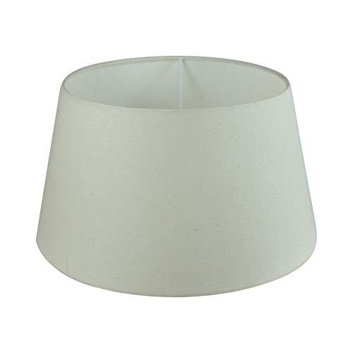 Wogati Premium Lampenschirm 35 cm x 27 cm x 20 cm/Tischleuchte/Stehlampe/Beige/Ivory/Elfenbein/Stoff / E27 / E14