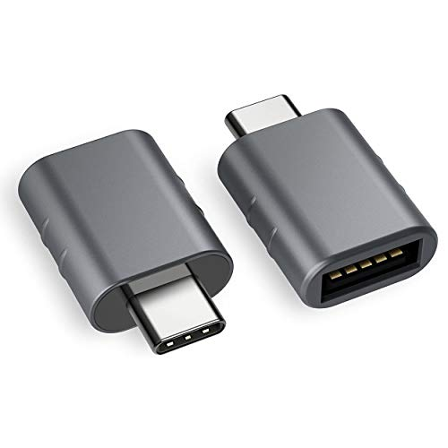 USB C to USB Adapter [2-Pack], USB C Male to USB A Female, Converting Thunderbolt 3 to USB 3.1/3.0/2.0, Compatible with MacBook Pro 2018/2017, Galaxy S9/S8/Tab S3, Dell XPS & All Type C Devices