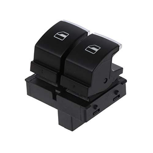 Botón del Interruptor de la Ventana de Control de Cromo 5k3959857 5k3 959 857 A/B/C/FIT FOR VW/FIT FOR para Golf GTI Passat B6 Rabbit 2 Puertas/Apto para el Asiento Ibiza Accesorios de Coche