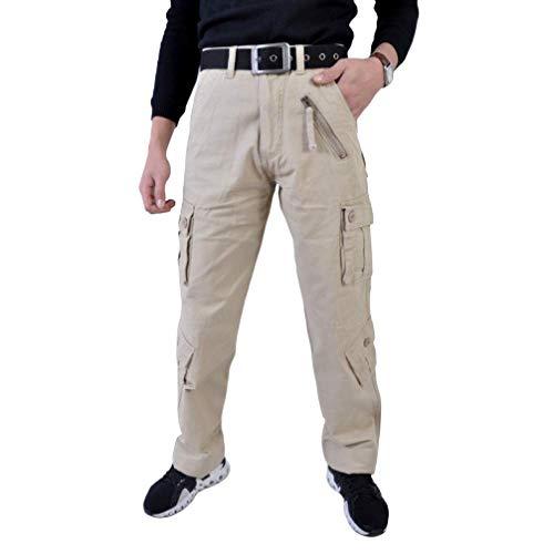 nobranded Pantalones de Trabajo de Carga para Hombre Pantalones de Ropa de Trabajo Inusual Caminata Camping Toutdoor Pantalones de Escalada Casuales