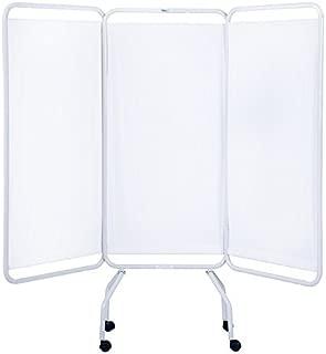 Winco 3130 Folding 3 Panel Medical Privacy Screen ( standard white vinyl )