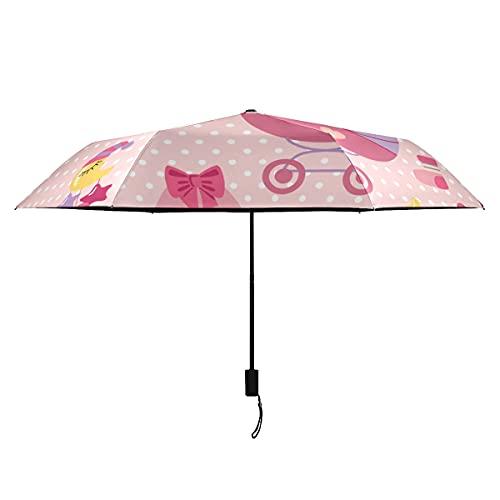 Paraguas para hombre lindo y elegante bebé carro señora color paraguas portátil...