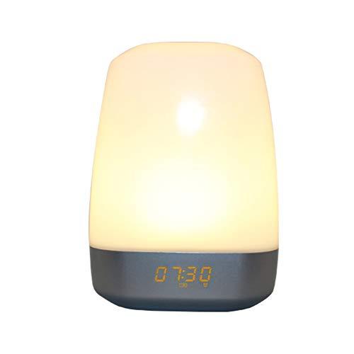 La luz de despertador simula el amanecer natural junto a la cama luz nocturna LED de carga colorida despertador despertador