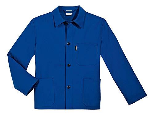 Uvex 125 Herren-Arbeitsjacke - Blaue Männer-Bundjacke - 100% Baumwolle - Gerader Armabschluss 52