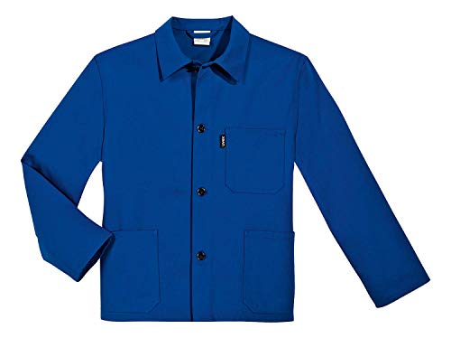 Uvex 125 Herren-Arbeitsjacke - Blaue Männer-Bundjacke - 100% Baumwolle - Gerader Armabschluss 54