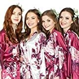 Set of 4 5 6 7 8 9 Floral Bridesmaid Robes - Bridal Party Kimono - Bride Robe -Bridesmaid Gifts for Bridal Party