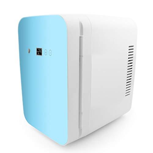 XmJ Mini-koelkast, 8 liter, klein, voor thuis, slaapkamer, slaapzaal, koeling voor auto, dual gebruik, 31 x 20,2 x 28 cm