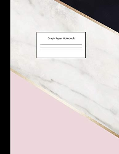 Graph Paper Notebook: Pink White Black Marble Cute Math Composition Book Quad Ruled 1/4 inch (.25') Squares Graphing Paper for Students Large, 8.5 x 11 in (Graphing Paper Notebooks)