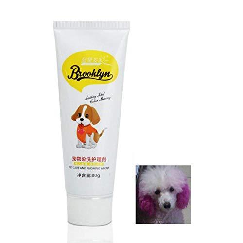 Weishazi, 80 g Hundefärbegel, natürliche und gesunde Färbecreme, ungiftig, Fruchtgeschmack, Haarpflege, helle Farben, kreative Haustierpflege Peachpuff