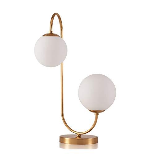 Lámpara de Mesa Personalidad creativa Lámpara de mesa de vidrio Dormitorio Lámpara de cabecera Estudio Lámpara de mesa Botón Interruptor Lámpara de Cabecera