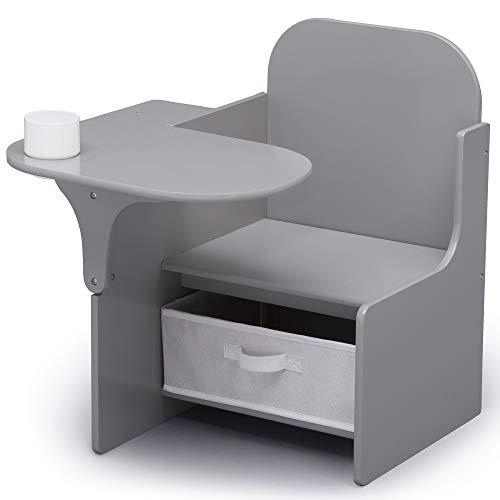Delta Children MySize Chair Desk With Storage Bin - Gray