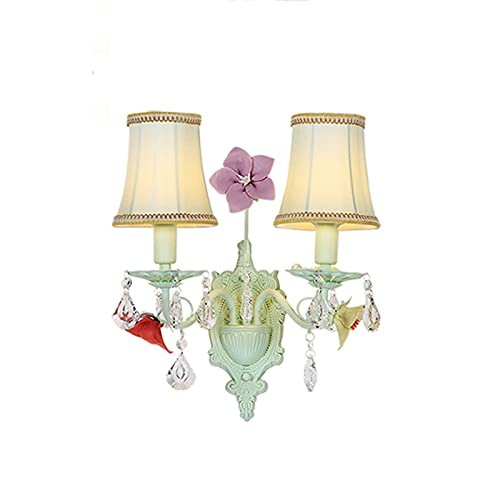 -aplique pared Lámpara de pared LED Lámpara de flores de jardín Lámpara de noche de la cama de la cabecera de una sola cabeza lámpara de pared de doble cabezal lámpara de pared Iluminación dormitorio