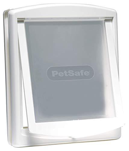 PetSafe Staywell Original Katzenklappe, Hundeklappe, 2-Wege-System, Katzenklappe große Katze, Innentür & Außenmontage, Robuste Plastikklappe, Einfache Montage, weiß, L