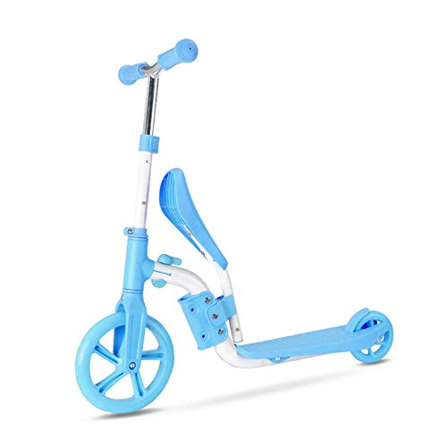 Scooters Kinderen met opklapbaar zitje 2-in-1 adjustable Kick Scooter Kinderen Skateboard Walker Loopfiets sudaijins (Color : A)