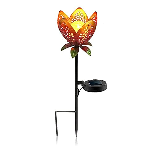 Luces solares Jardín de luz solar, luces solares para exteriores LED IP65 Lámparas húmedas a prueba de agua Luz de tierra de hierro forjado solar, luz de tierra solar para jardín decoración al aire li