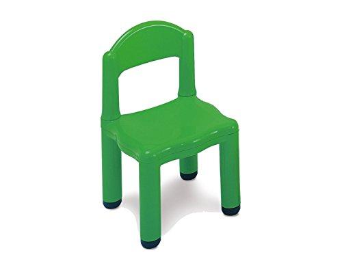 Italveneta Didattica 60014 Kinderstoel van kunststof groen met punt voor poten van 5 cm
